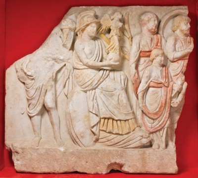 Figure 4. One of the Çukurbağ reliefs discovered in 2001: goddess Roma, Nike and Roman officials in a processional scene.