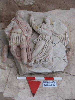 Figure 6. One of the Çukurbağ reliefs, stolen from the site during the rescue excavations in 2009: Nike and the Emperor.